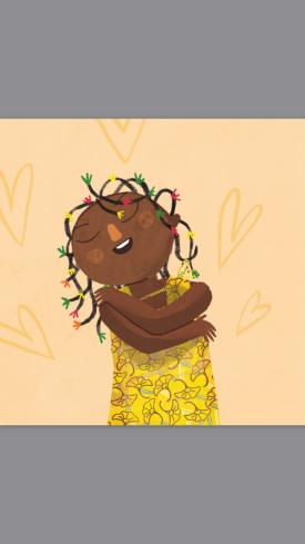 A menina abraça o vento