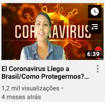 Vicky Marquez sobre o novo coronavírus