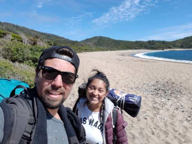 Na primeira ida de Brenda ao Chile, quando cruzou a Cordilheira dos Andes para encontrar Patrício